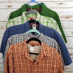 Lot of 5 The North Face Men's Large Shirts